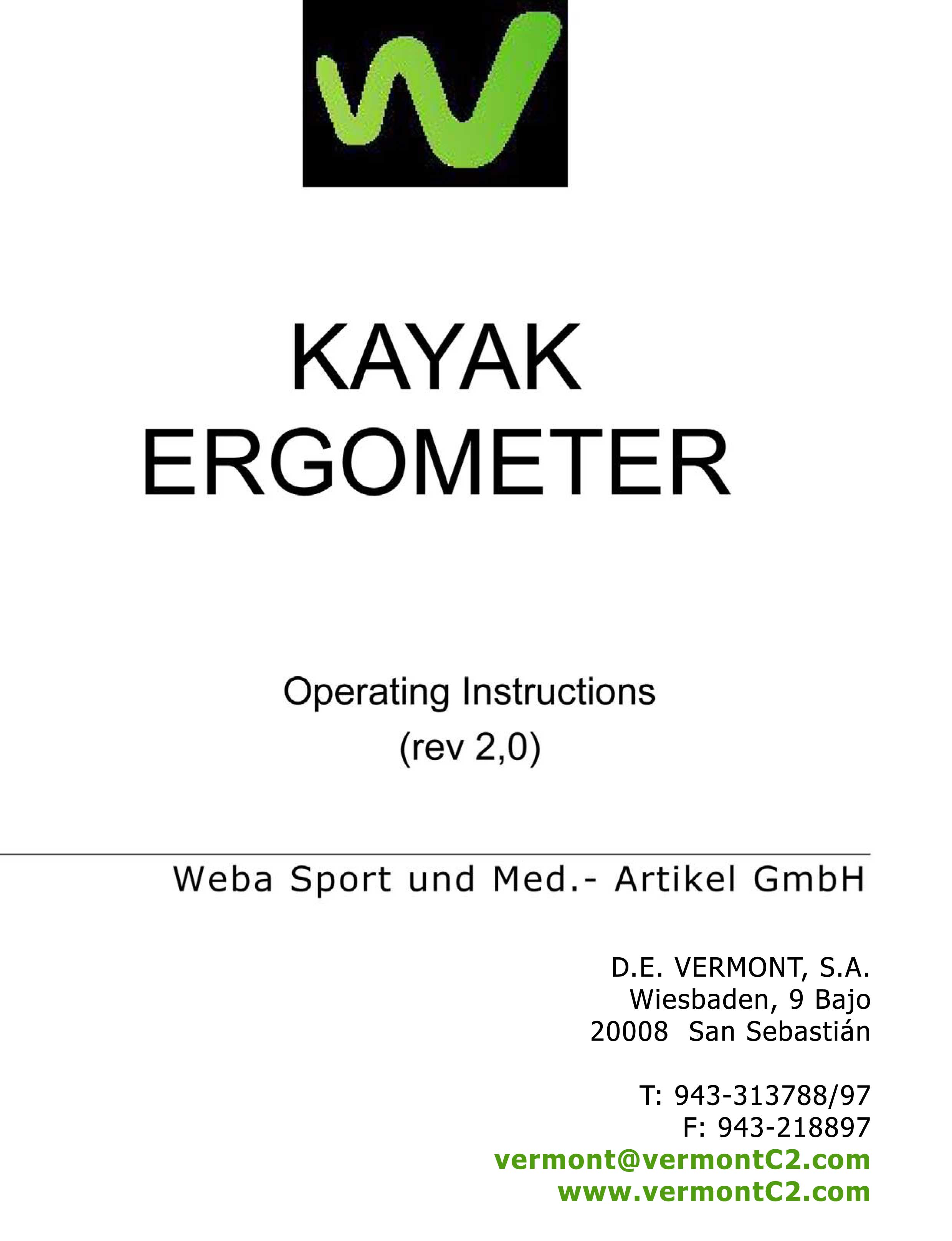 Manual del Kayakergómetro Weba